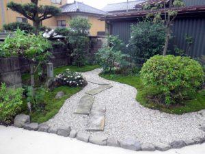 施工事例:和風リガーデンの庭