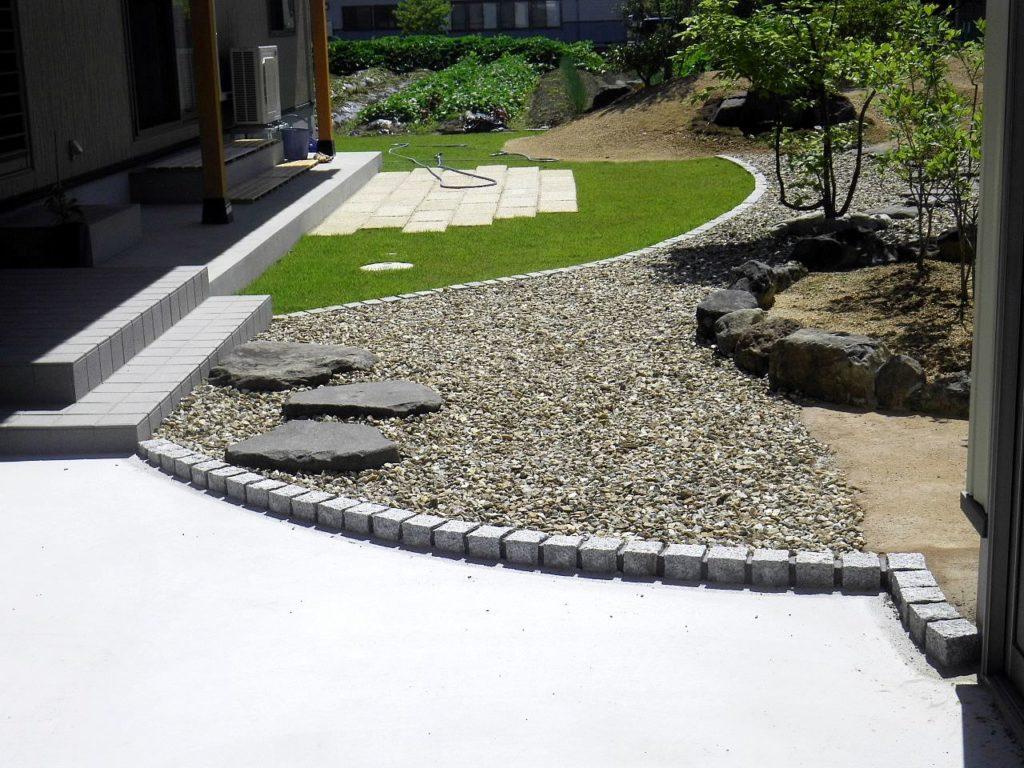施工事例:省力メンテナンスの庭